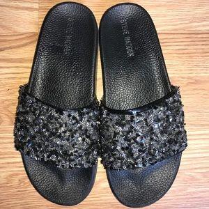 Steve Madden flip flops, lightly worn.